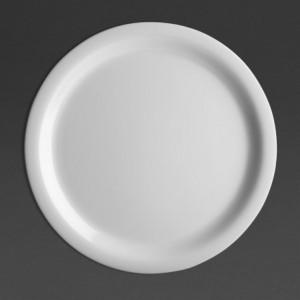 Assiette À Bord Etroit En Mélamine Blanche Ø 226 Mm - Lot De 12 Olympia KRISTALLON - 1