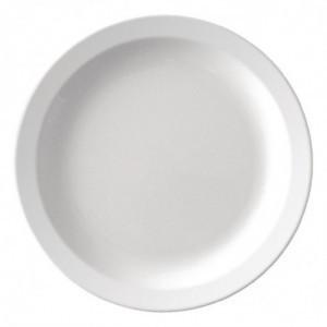 Assiette À Bord Etroit En Mélamine Blanche Ø 267 Mm - Lot De 12 Olympia KRISTALLON - 1