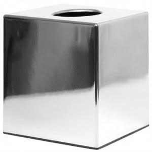 Boîte À Mouchoirs Cube Chrome Brillant Bolero - 1