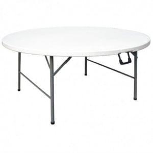 Table Ronde Pliable au Centre Blanche - Ø 1530 mm Bolero - 1