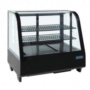 Vitrine Réfrigérée De Comptoir Noire 100 L Polar - 1