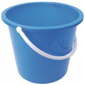 Seau Rond En Plastique Bleu 10 L Jantex - 1