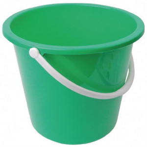 Seau Rond En Plastique Vert 10 L Jantex - 1