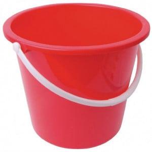 Seau Rond En Plastique Rouge 10 L Jantex - 1