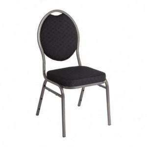 Chaise De Banquet Noire Avec Dossier Ovale - Lot De 4 Bolero - 1