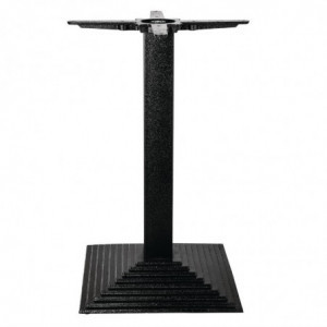 Pied De Table Carré Effet Escalier En Fonte 425 X 720 Mm Bolero - 1