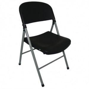 Chaise Pliante Noire Et Grises - Lot De 2 Bolero - 1