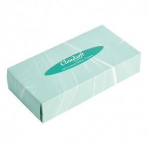Boîte De Mouchoirs En Papier Rectangulaire 2 Plis Boîte De 36 FourniResto - 1