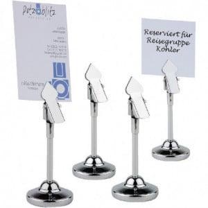 Support À Pince En Inox Pour Numéros De Table - Lot De 4 APS - 1