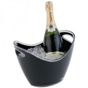 Seau À Vin Ou Champagne Noir Avec Poignées 2 Bouteilles APS - 1