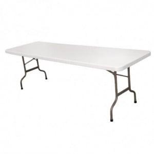 Table Pliable Blanche - L 2430 mm Bolero - 1