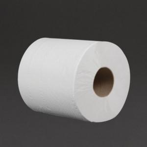 Essuie-Mains Blanc à Dévidage Central 2 Plis 125 mm - Lot de 18 Jantex - 1