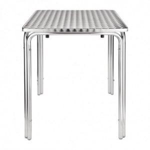 Table Carrée Empilable En Inox 600 X 600 Mm Bolero - 1