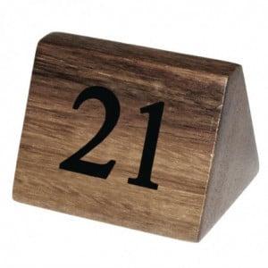 Numéros De Table En Bois De 21 À 30 Olympia - 1
