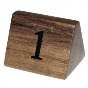Numéros De Table En Bois De 1 À 10 Olympia - 1
