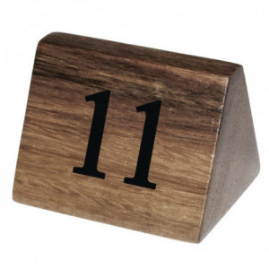 Numéros De Table En Bois De 11 À 20 Olympia - 1