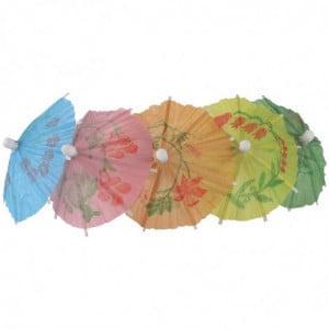 Parasol En Papier De Différentes Couleurs - Lot De 144 Fiesta - 1