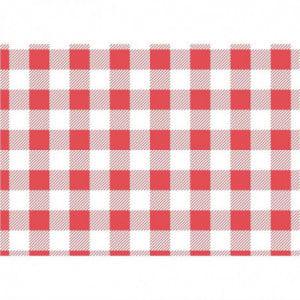 Papier Ingraissable Vichy Rouge 190 X 310 Mm - Lot De 200 FourniResto - 1
