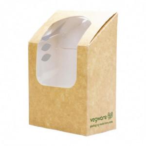 Boîte à Wrap et Tortilla Kraft avec Fenêtre - Lot de 500 Vegware - 1