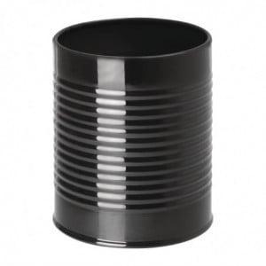 Récipient Boîte ee Conserve en Acier Noir - Ø 90mm Olympia - 1