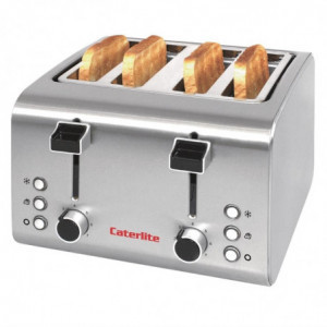 Grille-Pain Inox - 4 Tranches Caterlite - 1