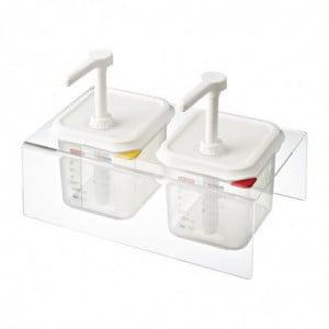 Distributeurs De Sauce Transparent Gn 1/6 2,6 L - Lot De 2 Araven - 1