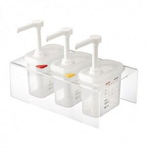 Distributeur De Sauce Transparent Gn 1/9 1,5 L - Lot De 3 Araven - 1