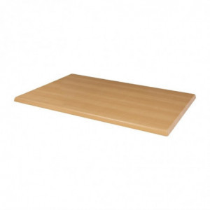 Plateau De Table Rectangulaire Pré Percé Hêtre Bolero - 1