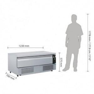 Soubassement Double Réfrigération 1 Tiroir Série U 3X Gn 1/1 Polar - 1