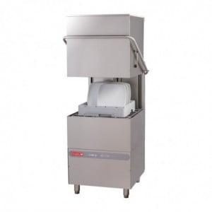 Lave-Vaisselle À Capot Maestro 50X50 400V Avec Pompe De Rinçage Péristaltique Et Doseur Détergent Gastro M - 1