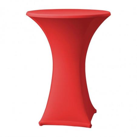 Housse De Table Extensible Samba Rouge Pour Table Avec Pieds Droits FourniResto - 1