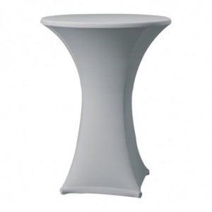 Housse De Table Extensible Samba Grise Pour Table Avec Pieds Droits FourniResto - 1