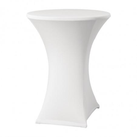 Housse De Table Extensible Samba Blanche Pour Table Avec Pieds Croisés FourniResto - 1