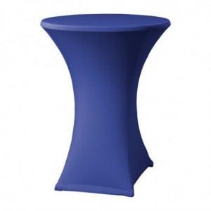 Housse De Table Extensible Samba Bleue Pour Table Avec Pieds Croisés FourniResto - 1