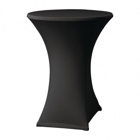 Housse De Table Extensible Samba Noire Pour Table Avec Pieds Croisés FourniResto - 1