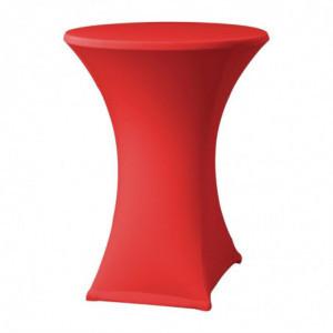 Housse De Table Extensible Samba Rouge Pour Table Avec Pieds Croisés FourniResto - 1