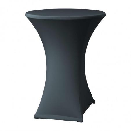 Housse De Table Extensible Samba Anthracite Pour Table Avec Pieds Croisés FourniResto - 1