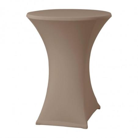 Housse De Table Extensible Samba Taupe Pour Table Avec Pieds Croisés FourniResto - 1