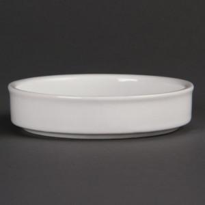 Plats Empilables En Porcelaine Blanche Ø 102Mm - Lot De 6 Olympia - 1