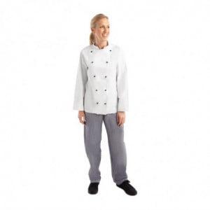 Veste De Cuisine Mixte Chicago Manches Longues Blanche Taille Xs Whites Chefs Clothing - 1