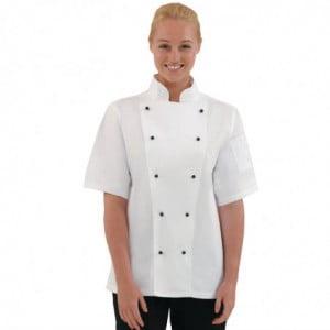 Veste de Cuisine Mixte Chicago Manches Courtes Blanche Taille L Whites Chefs Clothing - 1