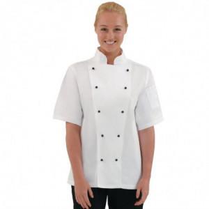 Veste De Cuisine Mixte Chicago Manches Courtes Blanche Taille S Whites Chefs Clothing - 1