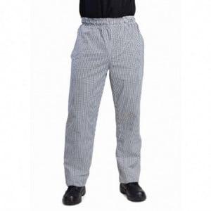 Pantalon De Cuisine Mixte Vegas Petits Carreaux Noirs Et Blancs Taille L Whites Chefs Clothing - 1