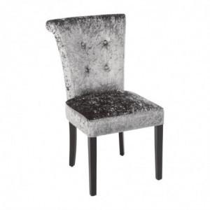 Chaise En Velours Gris Olive - Lot De 2 Bolero - 1