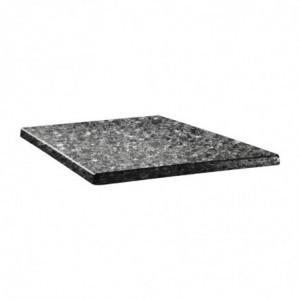 Plateau De Table Carré Classic Line 70X70Cm Granite Noir Topalit - 1