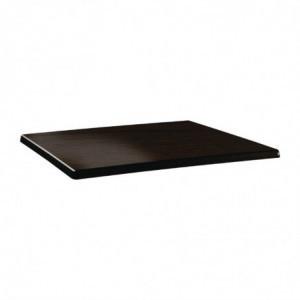 Plateau De Table Rectangulaire Classic Line 110X70Cm Wengé Topalit - 1