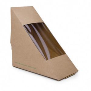 Boîtes Sandwichs Triangles Kraft Standards 65Mm - Lot De 500 Vegware - 1