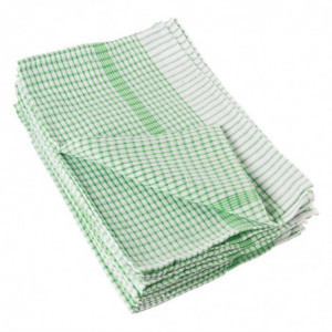 Torchons Verts En Coton - Lot De 10 Vogue - 1