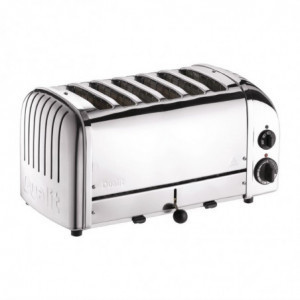 Grille-Pain 6 Tranches Inox Dualit - 1