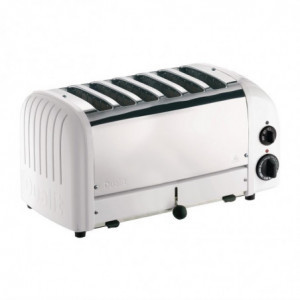Grille-Pain 6 Tranches Blanc Dualit - 1